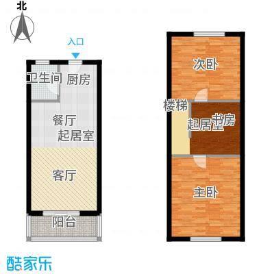 翡翠半岛90.00㎡34、36号楼标准层QQ复式户型