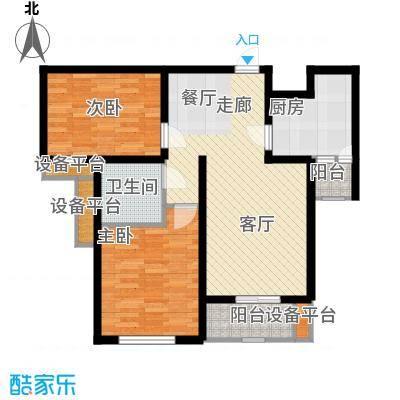 矽谷港湾86.87㎡知本家公寓标准层B2户型