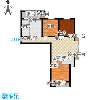 矽谷港湾120.91㎡知本家公寓标准层C1反户型