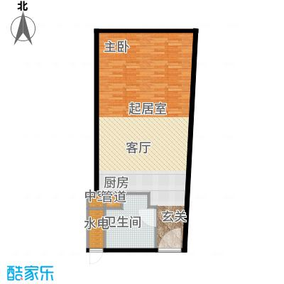 深圳湾72.00㎡高层标准层C、D、C'、D'户型