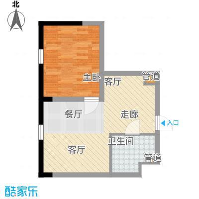 宝利国际广场云观公寓63.00㎡公寓2号楼标准层C户型
