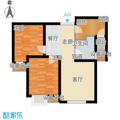 宝利国际广场云观公寓87.37㎡一期5号楼标准层B户型