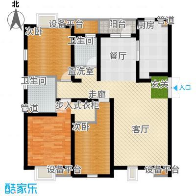 宝利国际广场云观公寓156.15㎡一期6号楼标准层A户型