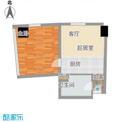 深圳湾85.00㎡A栋17-39层公寓套房D户型