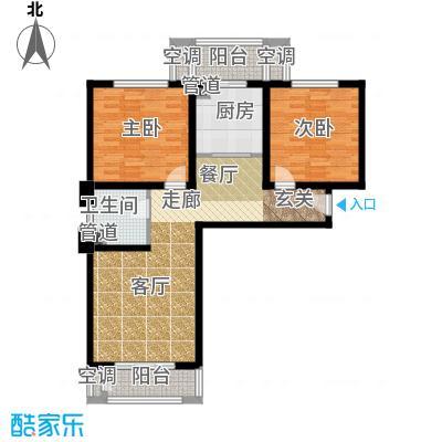 和骏新家园92.07㎡洋房标准层户型