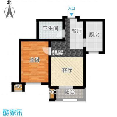 华景家园62.64㎡一期高层标准层C户型
