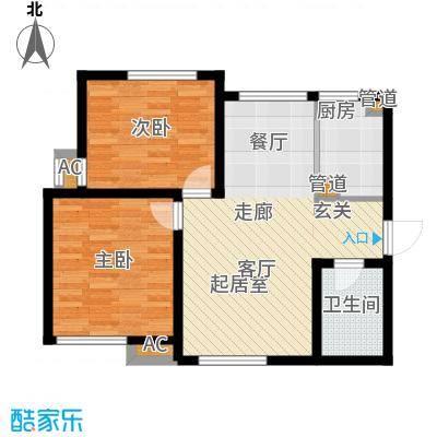 听涛苑89.00㎡7/11号楼标准层E户型