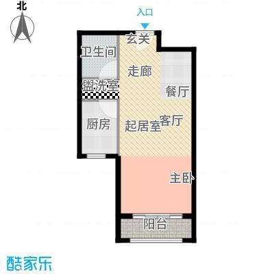 瞰海轩58.00㎡海之珑高层标准层户型