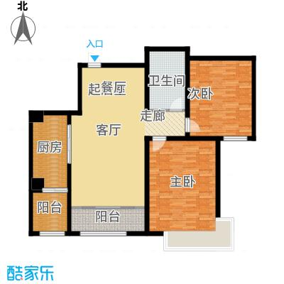 融创君澜融公馆115.00㎡高层标准层J2户型