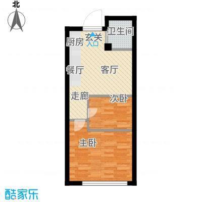 恒盛SOHO二号楼44.00㎡一期公寓标准层B户型
