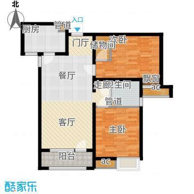 保利海棠湾94.00㎡一期高层标准层A1户型