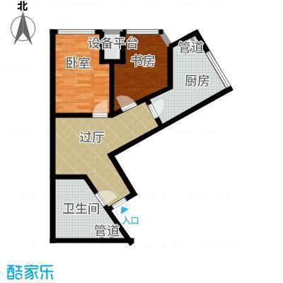 府上和平82.60㎡一期2号楼标准层b1户型