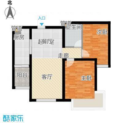 融创君澜融公馆88.00㎡小高层标准层c户型