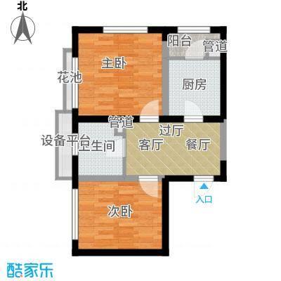 府上和平64.74㎡一期3号楼标准层c1户型