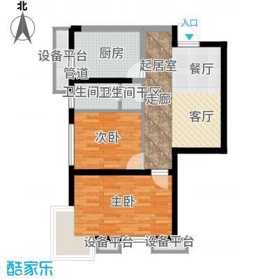 府上和平78.60㎡一期3号楼标准层C2户型