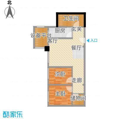 东北角艺术公寓89.42㎡一期1、2、3#楼2-32层M户型