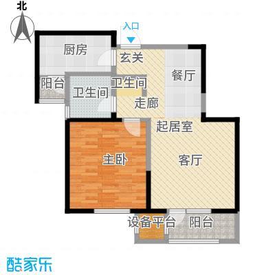 中兴泊仕湾74.26㎡一期高层1号楼标准层C户型