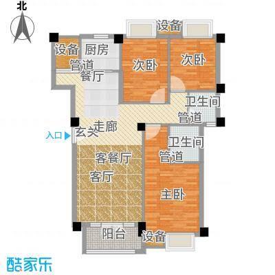 联发滨海琴墅118.00㎡洋房标准层C1户型