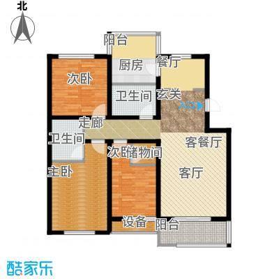 龙湾福泰花园135.58㎡多层标准层A2户型
