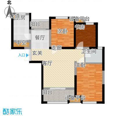 财信圣堤亚纳91.77㎡2#楼D3户型