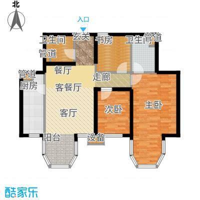 合生君景湾114.74㎡高层标准层302户型
