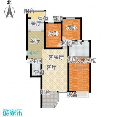 合生君景湾153.74㎡高层标准层301户型