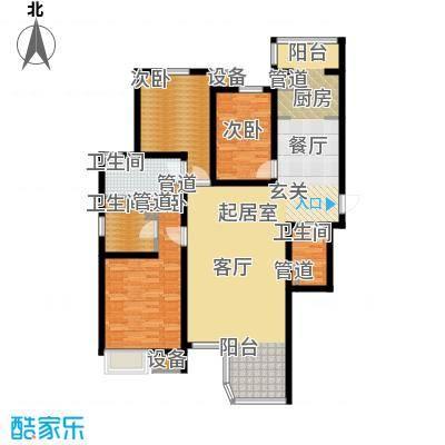 合生君景湾153.26㎡高层标准层户型