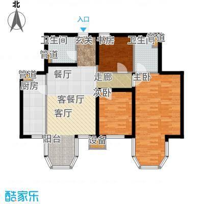 合生君景湾112.60㎡高层标准层户型