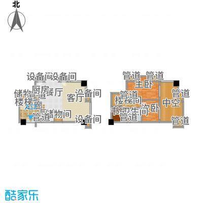 招商钻石山99.00㎡公寓高层标准层B户型