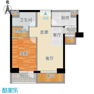 招商钻石山一期16、17#楼标准层A6-14层户型