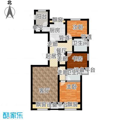 弘泽鉴筑126.87㎡1号楼标准层户型