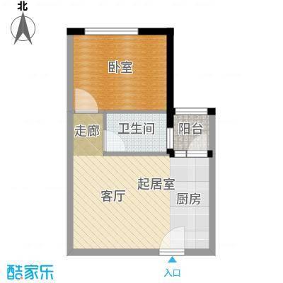 凯旋国际公寓48.04㎡1号楼标准层D户型