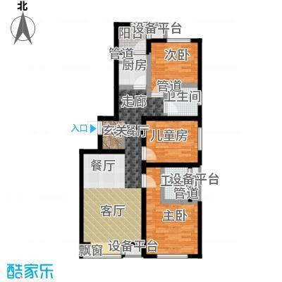 弘泽鉴筑113.00㎡5号楼标准层光景居户型