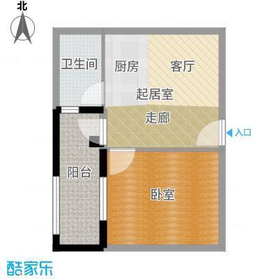 凯旋国际公寓59.96㎡1号楼标准层H户型