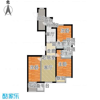 弘泽鉴筑121.97㎡2号楼标准层户型