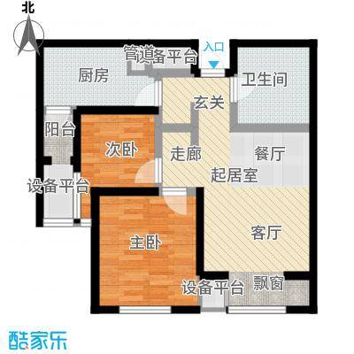 弘泽鉴筑70.00㎡3号楼标准层A2型户型