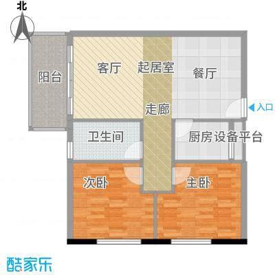 凯旋国际公寓89.15㎡1号楼标准层I户型