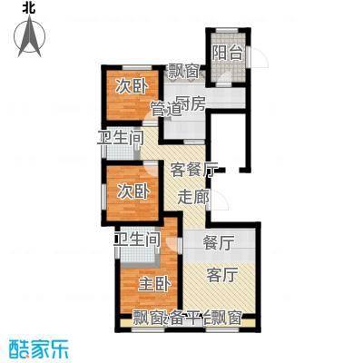 弘泽鉴筑117.03㎡2号楼标准层户型