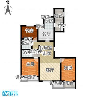 弘泽鉴筑126.40㎡2号楼标准层户型