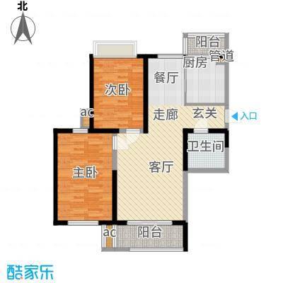 艺树澜庭105.00㎡小高层标准层A3户型