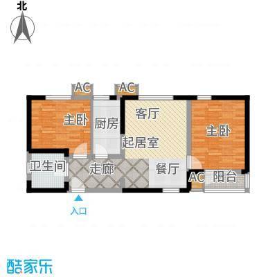 沽上江南89.22㎡三期高层19号楼标准层D户型