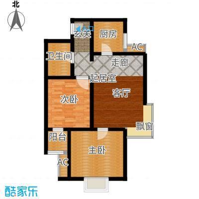 沽上江南90.61㎡三期高层19号楼标准层C户型