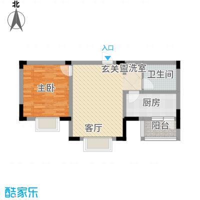 正馨佳居65.42㎡1号楼标准层02户型