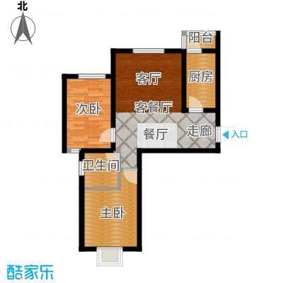 沽上江南89.00㎡二期1-5号楼标准层E2户型