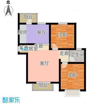 宝龙湾家园99.00㎡A房型面积9900m户型