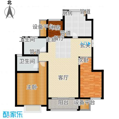 吉宝季景兰庭119.00㎡洋房标准层2B2S-L2户型