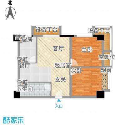 万通金府国际86.43㎡高层8号楼2门2-13层01户型