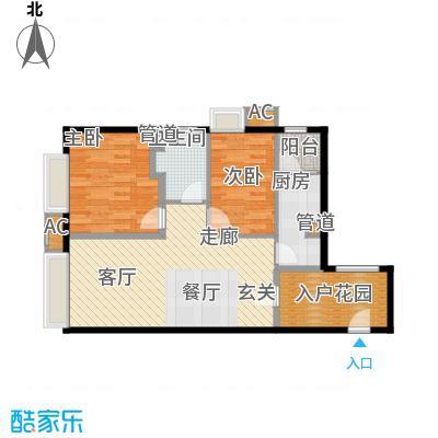 天津大悦城悦府89.00㎡高层1、3、4、5号楼标准层B户型