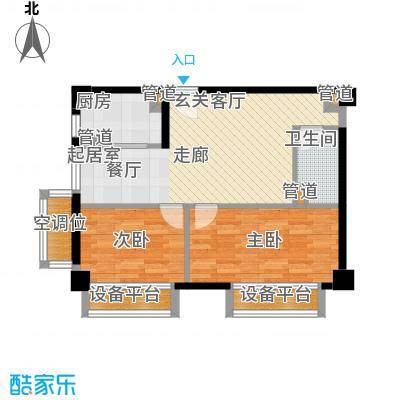 万通金府国际87.69㎡高层8号楼2门4-13层04户型