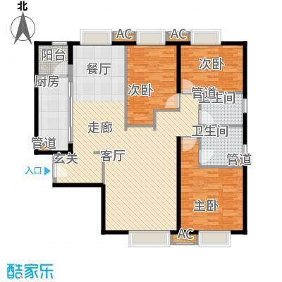 天津大悦城悦府144.00㎡高层1、3、4、5号楼标准层A户型